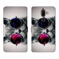 RV Housse cuir portefeuille Nokia 7 Plus animaux 2