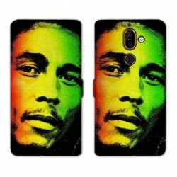 RV Housse cuir portefeuille Nokia 7 Plus Bob Marley