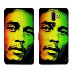 RV Housse cuir portefeuille Nokia 7 Plus Bob Marley