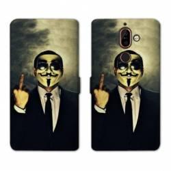RV Housse cuir portefeuille Nokia 7 Plus Anonymous