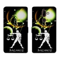 RV Housse cuir portefeuille Nokia 7 Plus signe zodiaque