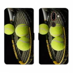 RV Housse cuir portefeuille Nokia 7 Plus Tennis