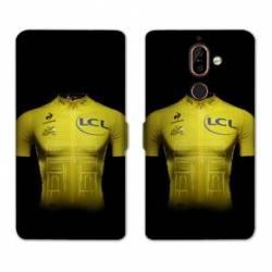 RV Housse cuir portefeuille Nokia 7 Plus Cyclisme