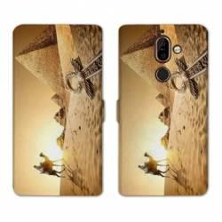 RV Housse cuir portefeuille Nokia 7 Plus Egypte