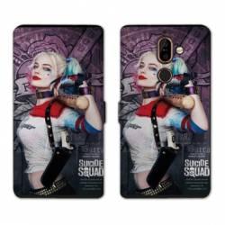 Housse cuir portefeuille Nokia 7 Plus Harley Quinn
