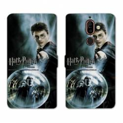 Housse cuir portefeuille Nokia 7 Plus WB License harry potter C