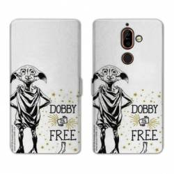 Housse cuir portefeuille Nokia 7 Plus WB License harry potter dobby