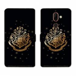 Housse cuir portefeuille Nokia 7 Plus WB License harry potter pattern