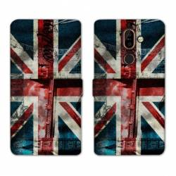 RV Housse cuir portefeuille Nokia 7 Plus Angleterre