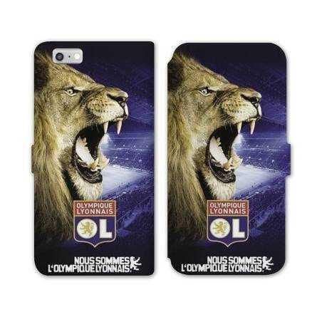 RV Housse cuir portefeuille Iphone 6 / 6s Licence Olympique Lyonnais - Rage de vaincre