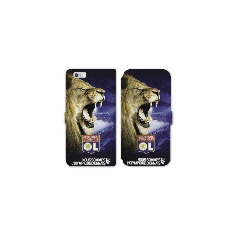 RV Housse cuir portefeuille Iphone 7 Licence Olympique Lyonnais - Rage de vaincre