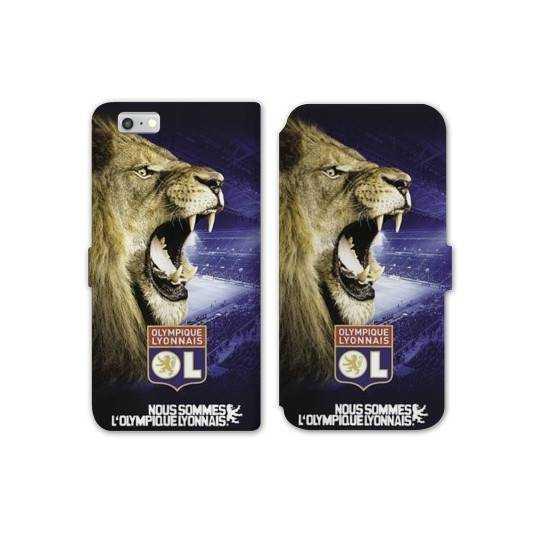 RV Housse cuir portefeuille Iphone 8 Licence Olympique Lyonnais - Rage de vaincre