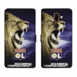 RV Housse cuir portefeuille Nokia 7 Plus Licence Olympique Lyonnais - Rage de vaincre