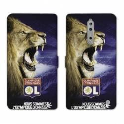 RV Housse cuir portefeuille Nokia 8 Licence Olympique Lyonnais - Rage de vaincre