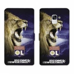 RV Housse cuir portefeuille Samsung Galaxy S9 Licence Olympique Lyonnais - Rage de vaincre