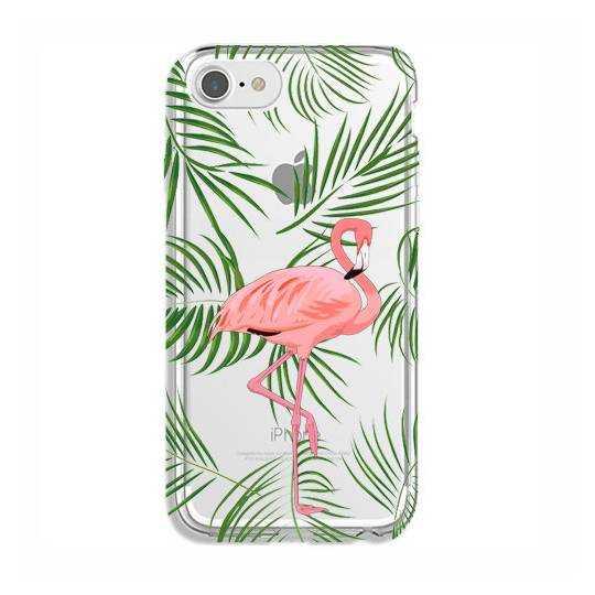 Coque transparente Iphone 7 / 8 Flamant Rose
