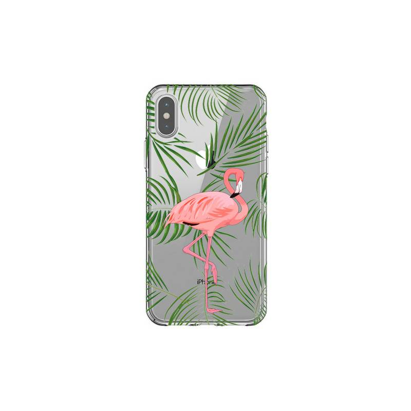 Coque transparente Iphone X / XS Flamant Rose