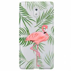 Coque transparente Nokia 3 Flamant Rose