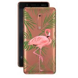 Coque transparente Nokia 5 Flamant Rose
