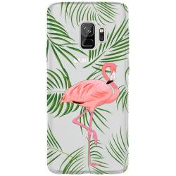 Coque transparente Samsung Galaxy S9 Flamant Rose