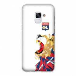 Coque Samsung Galaxy J6 (2018) - J600 License Olympique Lyonnais OL - lion color