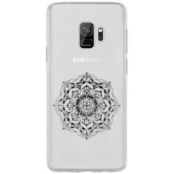 Coque transparente Samsung Galaxy J6 (2018) - J600 mandala noir