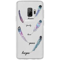 Coque transparente Samsung Galaxy J6 (2018) - J600 feminine plume couleur