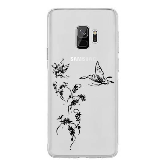 Coque transparente Samsung Galaxy J6 (2018) - J600 feminine envol fleur