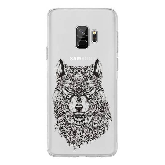 Coque transparente pour Samsung Galaxy J6 (2018) - J600 loup