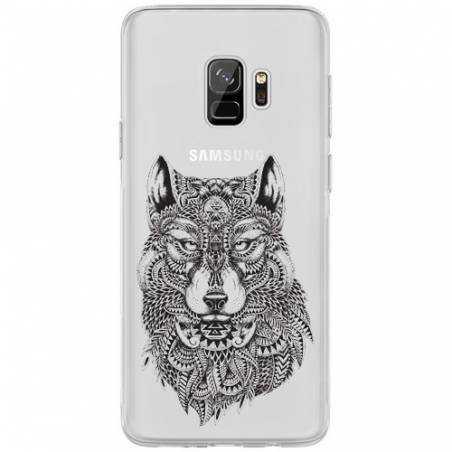 Coque transparente Samsung Galaxy J6 (2018) - J600 loup