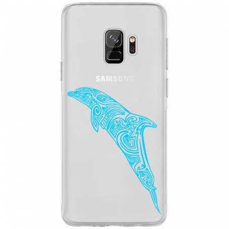 Coque transparente Samsung Galaxy J6 (2018) - J600 dauphin