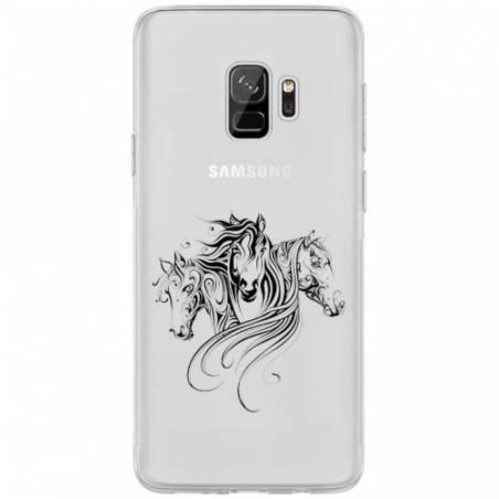 Coque transparente Samsung Galaxy J6 (2018) - J600 chevaux