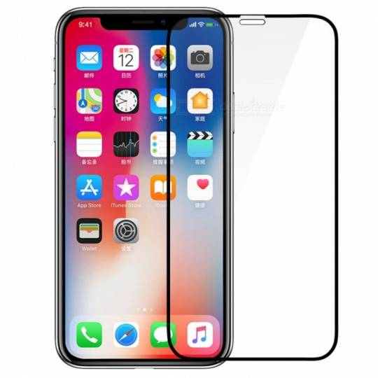 Vitre protection / Verre trempé incurvé 3D Iphone XR