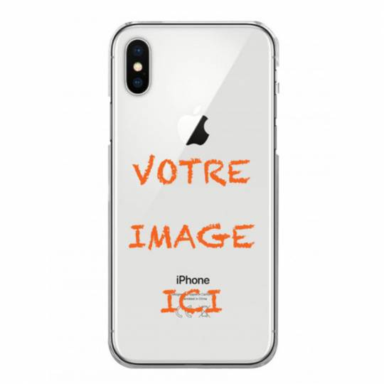 Coque transparente iPhone XS Max personnalisee
