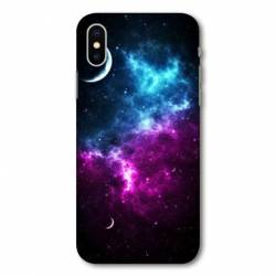 Coque Iphone XS Espace Univers Galaxie