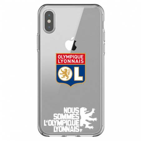 Coque transparente Iphone XS Licence Olympique Lyonnais - double face