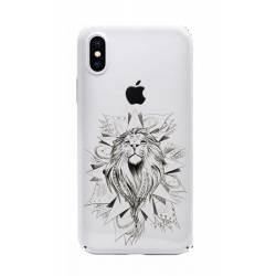 Coque transparente Iphone XS lion