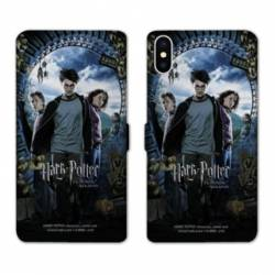 RV Housse cuir portefeuille Iphone XS WB License harry potter D