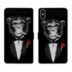 RV Housse cuir portefeuille Iphone XS Decale