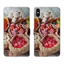 RV Housse cuir portefeuille Iphone XS Gourmandise