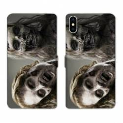 RV Housse cuir portefeuille Iphone XS Horreur