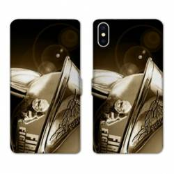 RV Housse cuir portefeuille Iphone XS pompier police