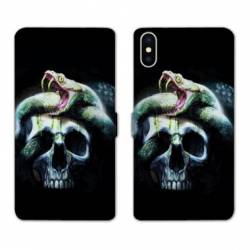 RV Housse cuir portefeuille Iphone XS reptiles