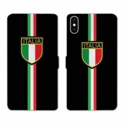 RV Housse cuir portefeuille Iphone XS Italie