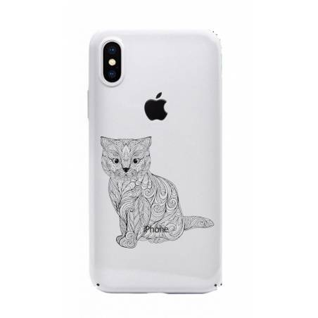 Coque transparente Iphone XS Max chat