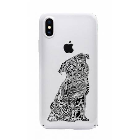 Coque transparente Iphone XS Max chien