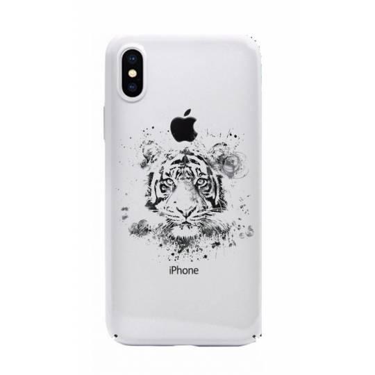 Coque transparente Iphone XS Max tigre