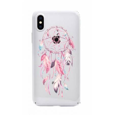 Coque transparente Iphone XS Max feminine attrape reve rose