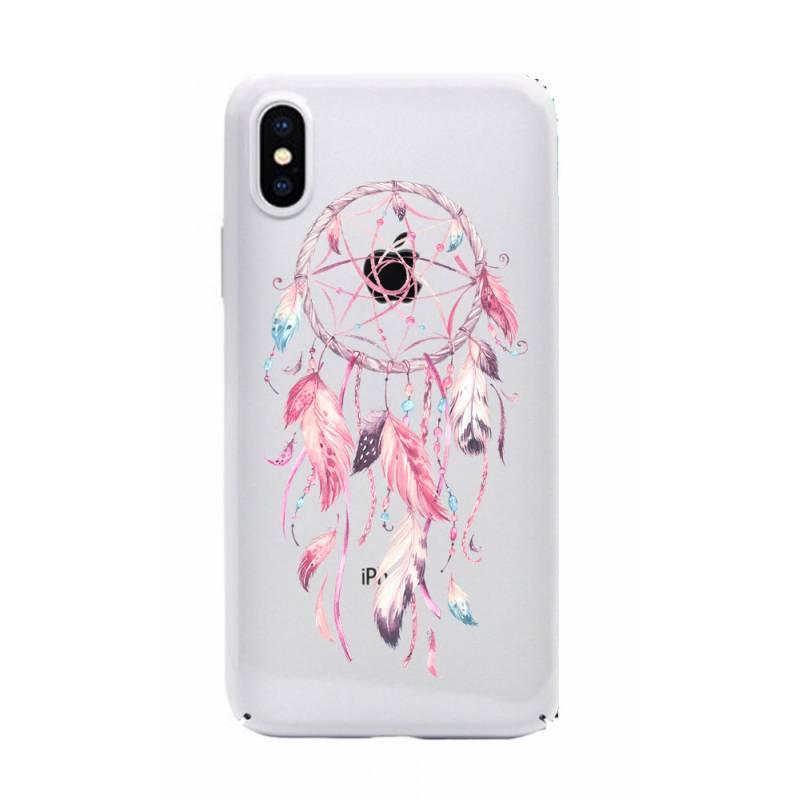 Coque transparente pour iphone XS Max feminine attrape reve rose