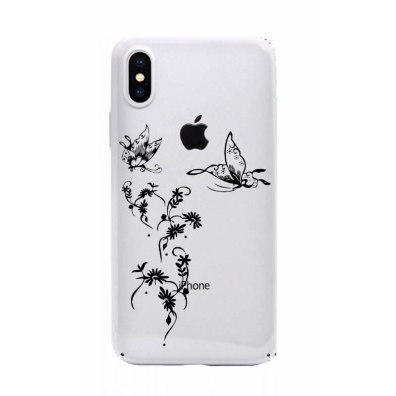 Coque transparente Iphone XS Max feminine envol fleur